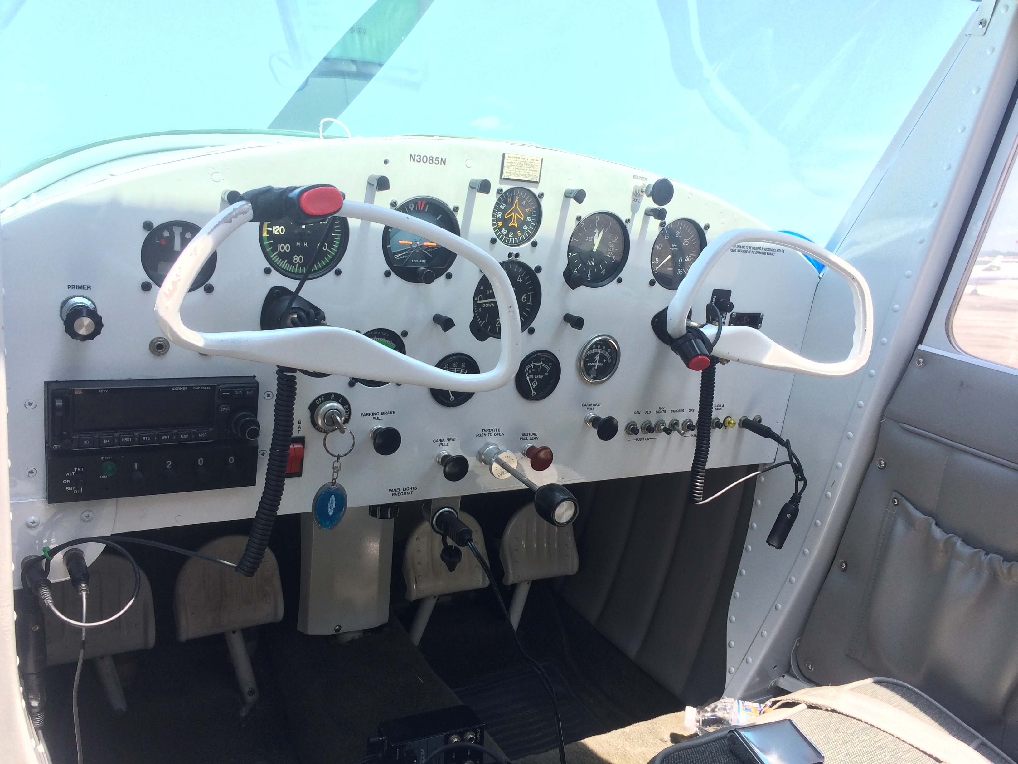 Cessna 120 Cockpit Tailwheel ACE Basin Aviation
