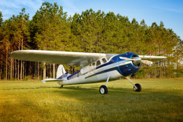 Vintage airplane Cessna 195 Ace Basin Aviation