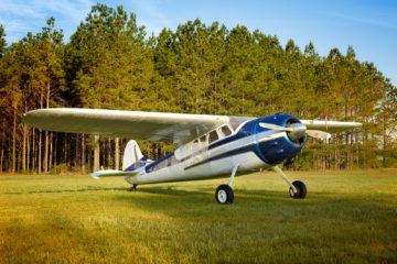 Vintage airplane Cessna 195 Ace Basin Aviation